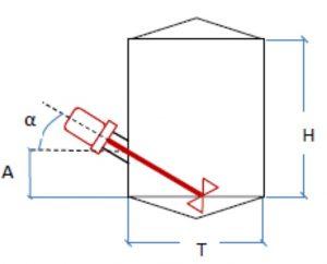 melangeur amovible oblique  cuve inox