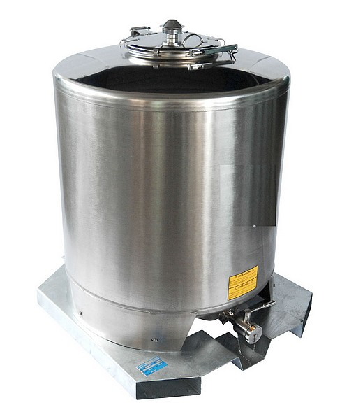 Cuves inox PALETTISABLES + TRAPPE - ISBP - 500 à 1500 litres