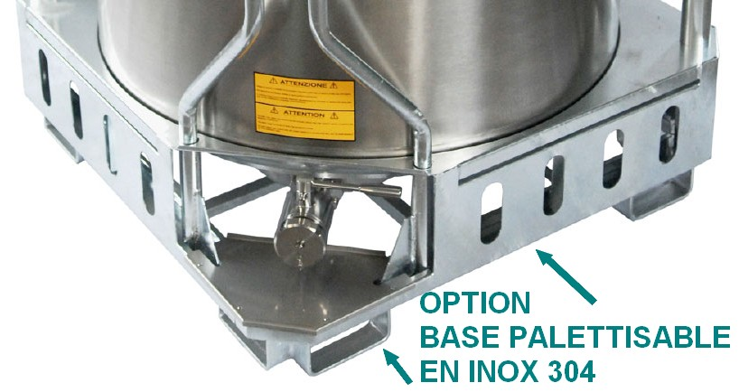 Base palettisée en INOX