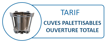 Tarif Cuves INOX palettisables