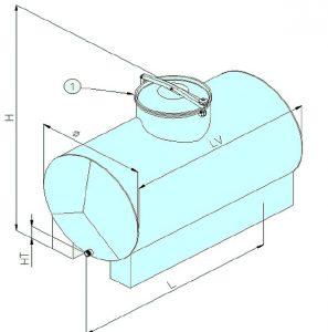Schéma technique citerne inox