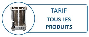 Tarif Général - Tous les produits